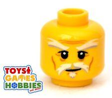 *NEW* LEGO Minifigure Minifig Head Old Man Smile Beard Grandpa Ninjago Wu #1642