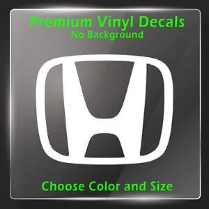 Honda Decal Honda Car Emblem Logo Vinyl Sticker Civic Accord