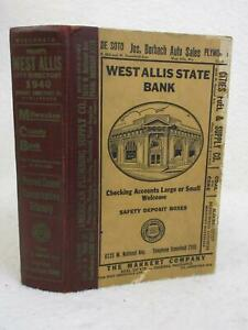 WRIGHT'S WEST ALLIS CITY DIRECTORY Wisconsin 1940 Edition