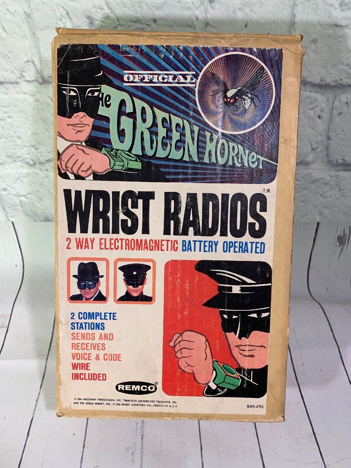 1966 Remco The Green Hornet Wrist Radios