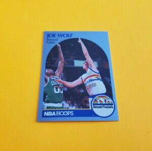 1990/91 Hoops Basketball Joe Wolf Card #412***Denver Nuggets***