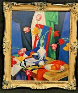 1920s-FRENCH-IMPRESSIONIST-STILL-LIFE-OIL-PAINTING-signed-NO-RESERVE-AUCTION