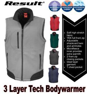Bodywarmer Gillet Waterproof Lightweight Breathable New Black Softshell Vest
