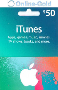 itunes gift card 50 dollar 50 usd us apple store key iphone ipad mac code ebay. Black Bedroom Furniture Sets. Home Design Ideas