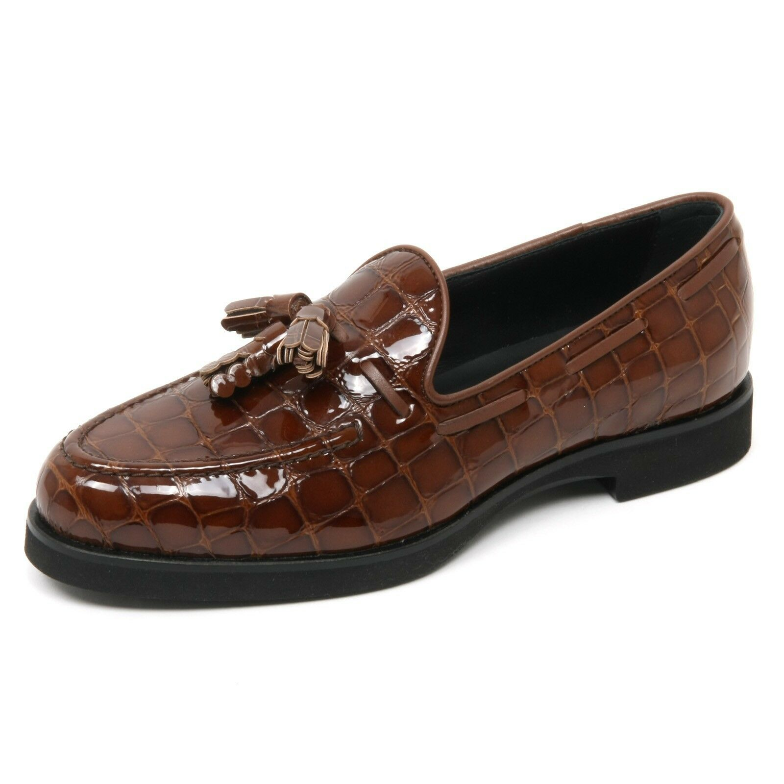 B9022 mocassino mujer Tod 's Scarpa nappine nappine nappine marrón loafer zapatos Woman  lo último