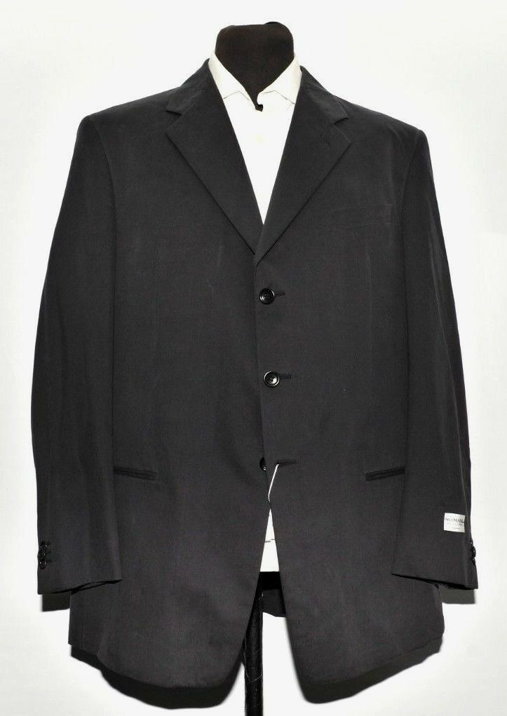 NEW MEN ARMANI COLLEZIONI NAVY blueE COTTON SUIT MADE IN ITALY 46R W38