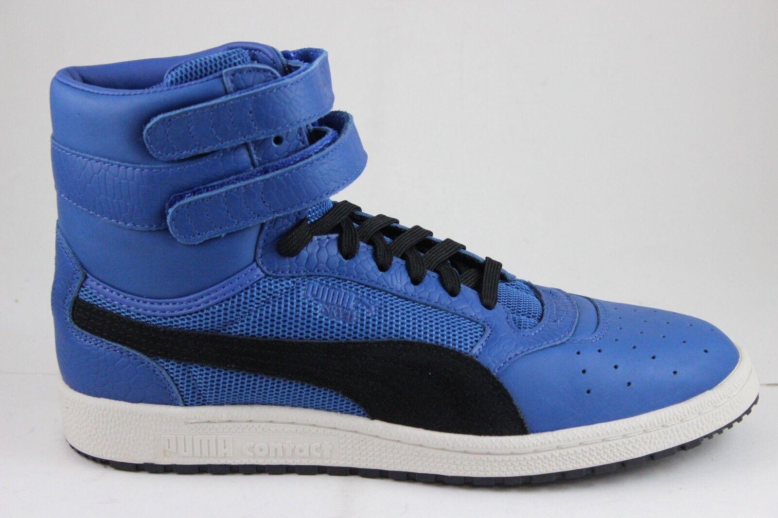 Puma Men's Sky ll Hi Color Blocked Lthr 36385401 Lapis Blue/Black New In Box