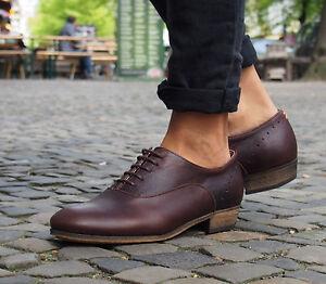 HUB-Footwear-Halbschuhe-LUCKY-dark-brown-Echtleder-Damenschuhe-dunkel-braun-NEU