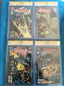 Batman-Year-Three-set-436-439-DC-CGC-SS-9-0-to-9-8-Sig-by-Wolfman-Beatty