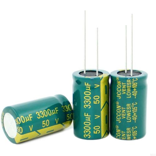 50V 3300uF High Frequency LOW ESR Radial Electrolytic Capacitors 105°C 18x31mm