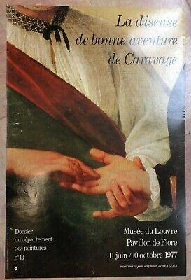 Caravage Affiche Originale Exposition 1977 Musee Du Louvre Paris Ebay