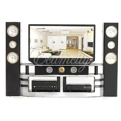 Hi-Fi TV Cabinet Set Combo for Blythe Barbie Doll's House Dollhouse Furniture