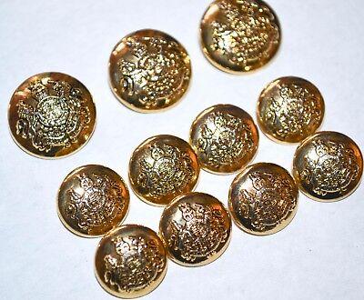 Ralph Lauren Buttons Gold Crest Coat of Arms Lion Unicorn Blazer Coat  RL14