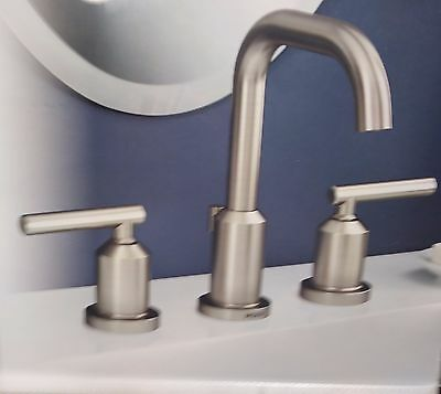 Marvelous Moen Gibson Spot Resist Brushed Nickel Widespread Bathroom Faucet Ws84229Srn Ebay Interior Design Ideas Gresisoteloinfo
