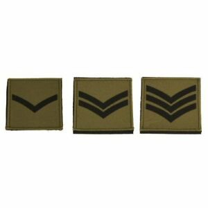 Details about 2x Olive Subdued British Army Rank Patch Hook and Loop UBACS  Shirt Badge 70x70
