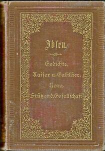 Henrik Ibsen Works 1 Gesammelte Werke German Vintage Hc
