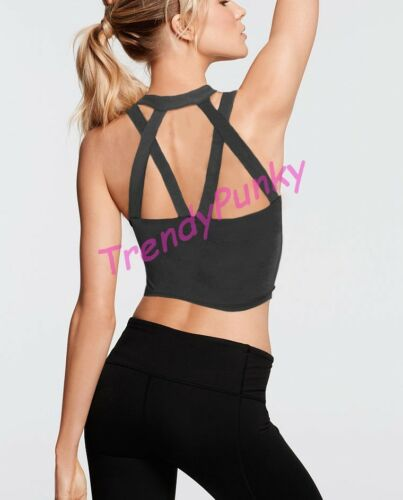 Strappy Cage Back Tank Top Undershirt Active Gym Sports Knit Shirt Sleeveless