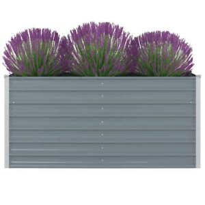vidaXL-Hochbeet-Verzinkter-Stahl-160x80x77cm-Gartenbeet-Pflanzbeet-Fruehbeet