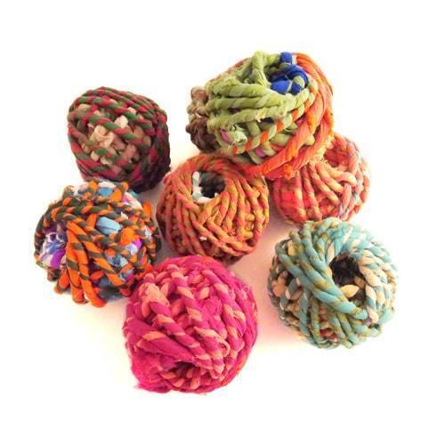 Recyclé Sari String 8-10 M Coloré Doux Craft Cadeau Cadeau de Noël