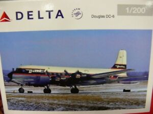 1/200 Herpa Delta Air Lines Douglas Dc-6 557382 Prix Spécial 42,99 Au Lieu De 67 €