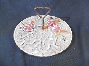 Dish Tray A Fruit Cheese Antique Signed Poet Laval Vallauris Vintage Kitch