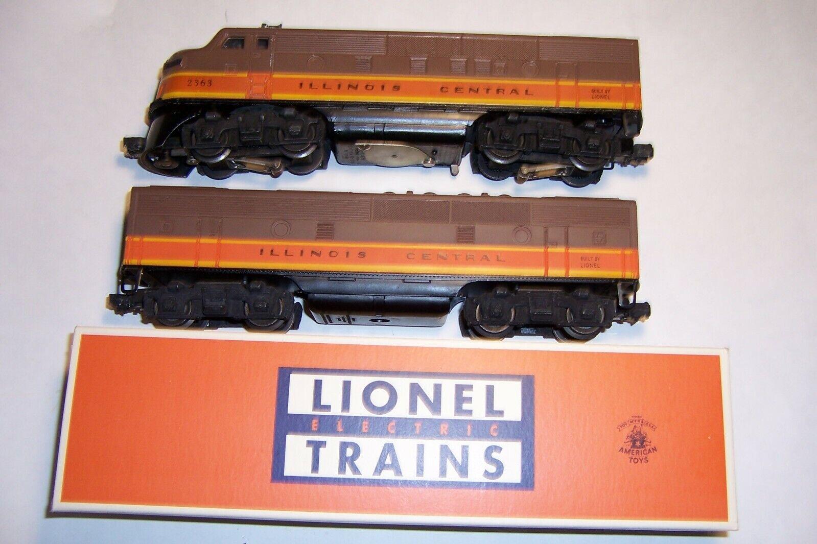O Scale Lionel 2363 illinois Central F3 Diesel AB Units 55-56