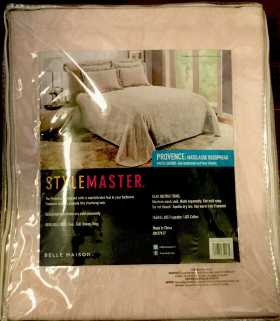 Taupe Stylemaster Provence Queen Matelasse Bedspread