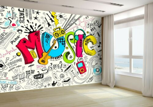Music in Doodle Style Wallpaper Mural Photo 11915519 budget paper