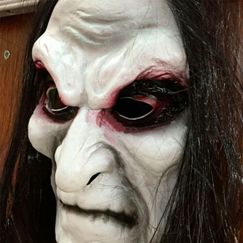 Halloween Cosplay Ghost Mask Blooding Long Black Hair Zombie Mask Patry Costumes