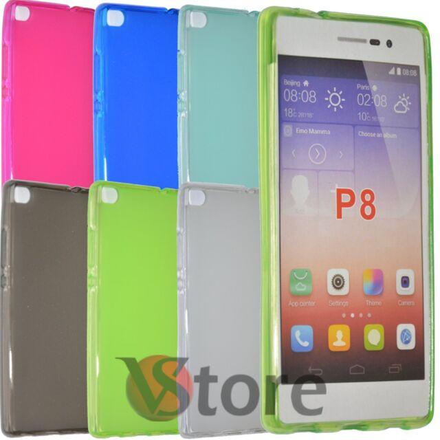 Housse De Couverture Pour Huawei P8 Gel Silicone TPU Arrière Opaque
