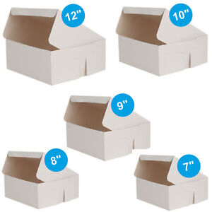 Pack-of-100-x-Cake-Boxes-Fold-Flat-White-Square-Cardboard-Box-Cakes-Cupcakes