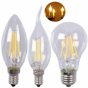 e14 e27 led glasserie filament gl hbirne gl hlampe im retro design 2w 8w leuchte ebay. Black Bedroom Furniture Sets. Home Design Ideas