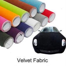 1.35mX0.3m Black Velvet Cloth Fabric Vehicle Wrapping Vinyl Wrap Film