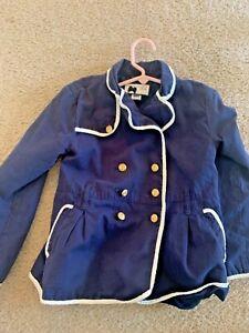 Janie and Jack Excellent Nautical blue jacket size 5 6
