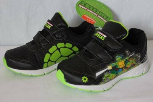 NEW Toddler Boys Tennis Shoes Size 6 Black TMNT Mutant Ninja Turtles Sneakers