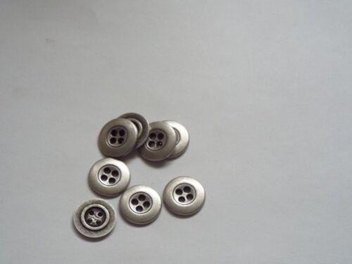 Chaqueta De Metal Color Peltre 10pc 15mm Bebé Camisa Pantalón Botones de costura 0424