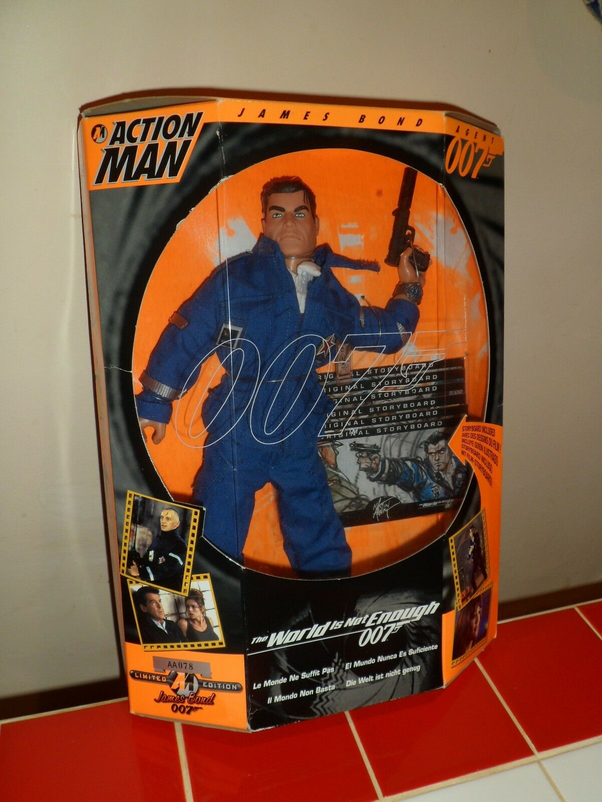 James Bond Action Man Figure THE WORLD IS NOT ENOUGH New NEVER REMOVED FROM BOX