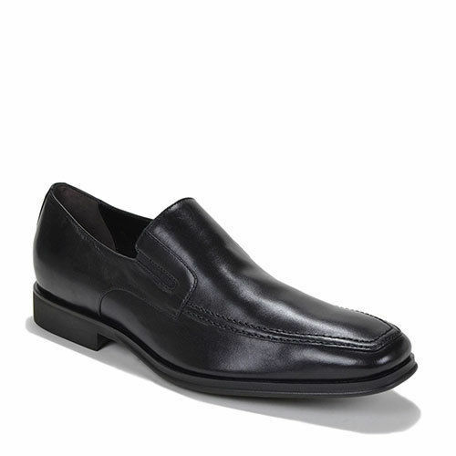 Bruno Magli Raging Black Napa Leather Slip On Italian Dress shoes