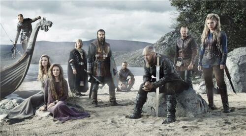 "Vikings TV Series Season 1 2 3 Art Silk Wall Poster 24/""x13/""  V035"