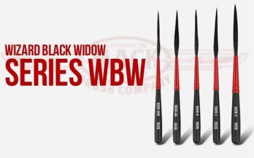 SCEGLI LA MISURA Pennelli per scroll-striping Andrew MACK WIZARD BLACK WIDOW