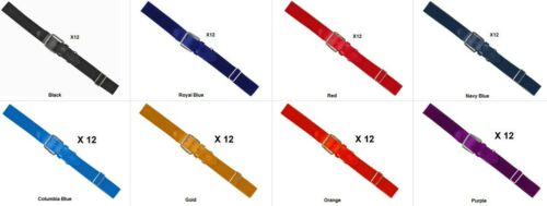"12 Russell Athletic Youth Douzaine Baseball//Softball réglable Ceintures Large 1.25/"""