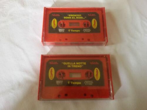 rara coppia cassette omaggio rivista erotica tilt vintage da collezione magazine