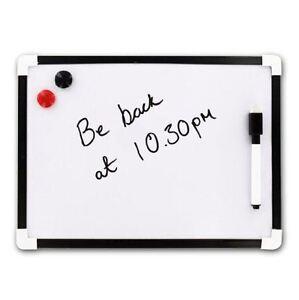 A4-Dry-Wipe-Magnetic-Mini-Office-Whiteboard-Notice-Memo-White-Board-Pen-amp-Eraser
