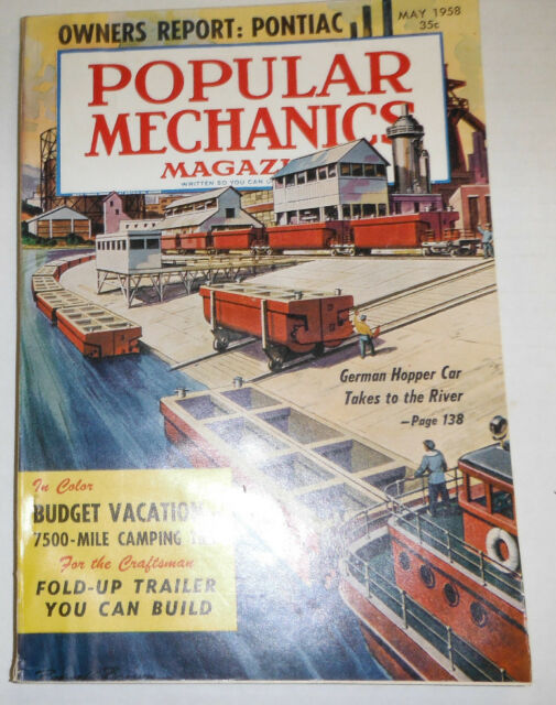 Popular Mechanics Magazine German Hopper Car May 1958 091314R