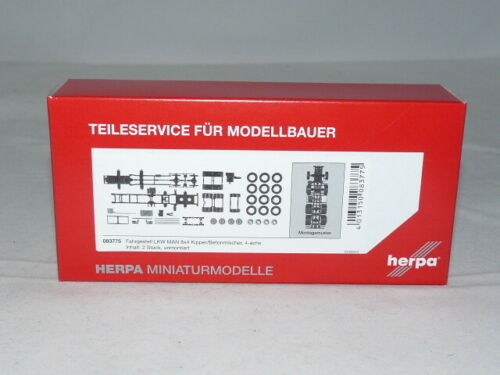 herpa 083775 Fahrgestell MAN 8x4 Baufahrzeuge 4-achs Inhalt 2 Stück 1:87 NEU...
