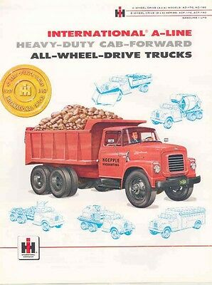 1957 International Construction Truck Sales Brochure wc1370-1CT326
