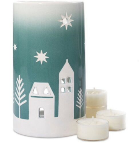 Yankee Candle  WINTER VILLAGE HOLIDAY LUMINARY /& TEA LIGHT GIFT SET  NIB