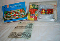 Rare Vintage Heros German Wooden Train Set Kleinstadt Little Town In Box