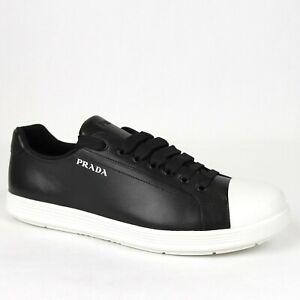 Prada Men's Black Leather Sneaker with