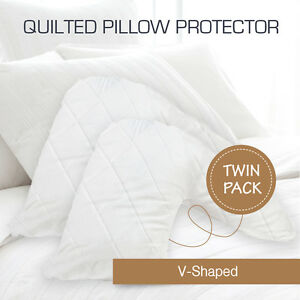 2-x-Aus-Made-Quilted-V-Shape-Tri-Boomerang-Pillow-Protectors-Case-Cotton-Cover
